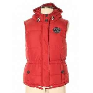 Abercrombie and Fitch Red Puffer Vest